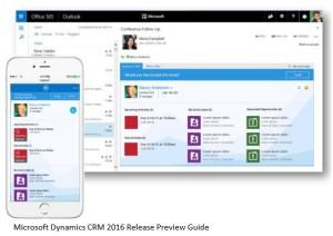 Microsoft Dynamics CRM 2016 outlook