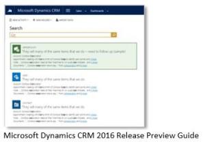Microsoft Dynamics CRM motor busqueda