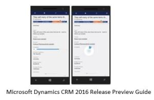 Microsoft Dynamics CRM 2016 movilidad