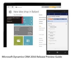 Microsoft Dynamics CRM 2016 movilidad offline